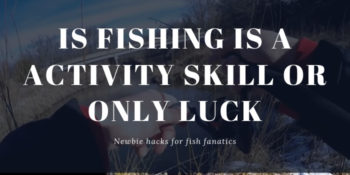 Is fishing is a activity skill or only luck